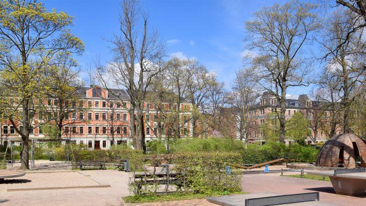 Der neu gestaltete Bonhoefferplatz mit hohem Naherholungswert