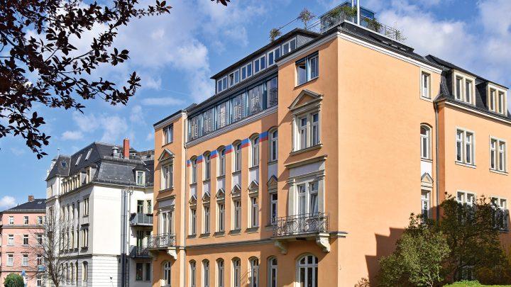 Typische Löbtauer Würfelhäuser, Saalhausener Straße